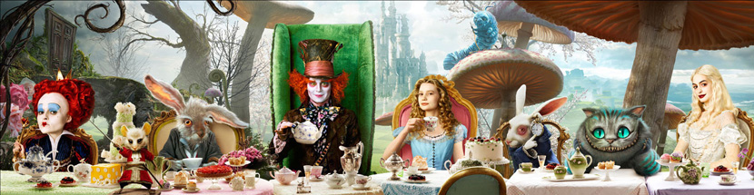Tim-burton-Alice-in-wonderland-tea-party-poster