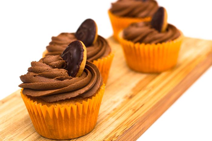 Jaffa Cake Cupcake Closeup